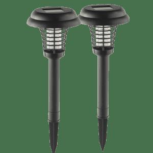 Eternal Living Solar LED Lights w/ UV Bug Zapper 2-Pack for $18