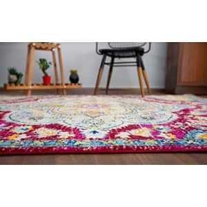 """Rugshop Vintage Distressed Bohemian Area Rug 3'3"""" x 5' Red for $46"""