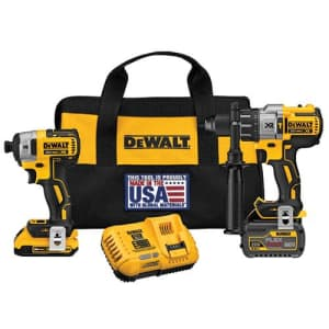 DeWalt Hammer Drill and Impact Driver Combo Kit for $399