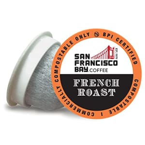 SF Bay Coffee French Roast 100 Ct Dark Roast Compostable Coffee Pods, K Cup Compatible including for $57