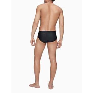 Calvin Klein Men's Quick Dry Swim Brief, Black, XX-Large for $29