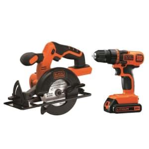Black + Decker 20V MAX Cordless Drill/Driver Combo Kit w/ Saw for $105