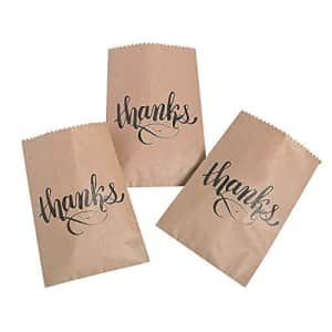 Fun Express THANKS KRAFT PAPER CAKE BAGS (50PC) - Party Supplies - 50 Pieces for $15