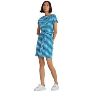 Lauren Ralph Lauren Women's Striped T-Shirt Dress for $29