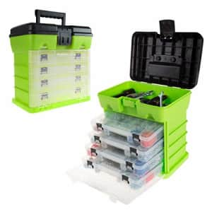 Stalwart Storage and Tool Box-Durable Organizer Utility Box-4 Drawers with 19 Compartments Each for for $42