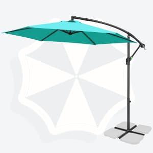 Fruiteam 10-Foot Offset Patio Umbrella for $55