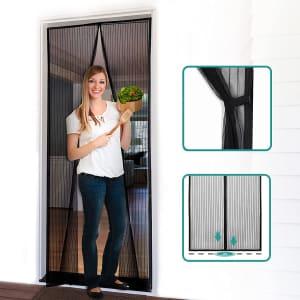 """Homitt 36"""" x 83"""" Magnetic Screen Door for $11"""