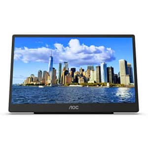 """AOC 16T2 15.6"""" Full HD (1920 x 1080) Touch-enabled portable IPS monitor, USB-C and Micro HDMI for $220"""