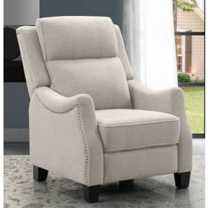 Abbyson Living Calvin Fabric Pushback Recliner for $399 for members