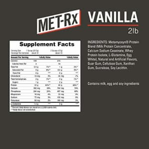 MET-Rx Metamyosyn Protein Plus Whey Isolate and Casein Protein Powder, Great for Meal Replacement for $22