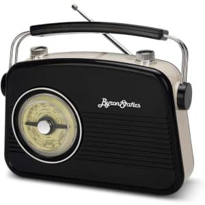 Byron Statics Vintage Portable Radio for $20