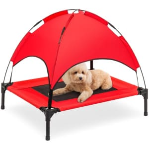 Best Choice Elevated Cooling Pet Bed w/ Canopy for $45
