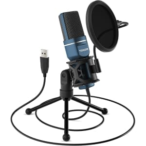 Tonor USB Microphone with Tripod Stand & Pop Filter for $35