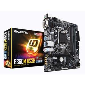 GIGABYTE B360M DS3H (LGA1151/Intel/Micro ATX/USB 3.1 Gen 1 (USB3.0) Type A/DDR4/Motherboard) for $75