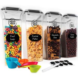 Plastic House 4-Liter Cereal Storage Container 4-Pack for $16