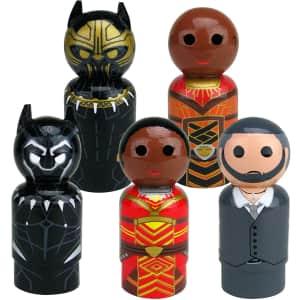 Bif Bang Pow! Black Panther Movie Pin Mate Wooden Figure Set for $20