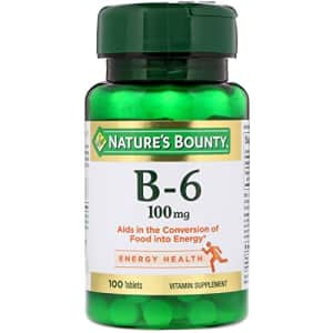 Nature's Bounty Vitamin B6, 100mg, 100 Tablets (Pack of 4) for $6