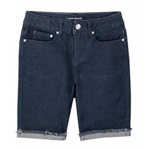 Calvin Klein Girls' Big Bermuda Short, S20 Cut Off Dark Rinse, 10 for $34