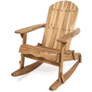 Christopher Knight Home Malibu Outdoor Acacia Wood Adirondack Rocking Chair for $130
