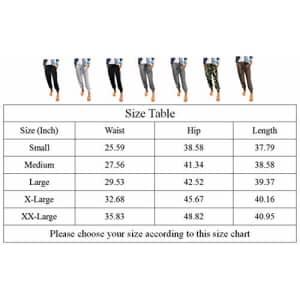 onlypuff Stripe Leopard Elastic Waist Pants for Women Joggers Pants Activewear Pockets XL for $26