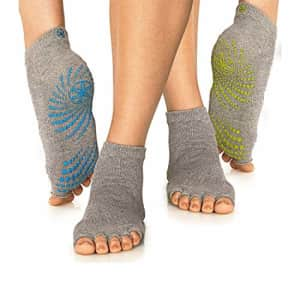 Gaiam Grippy Toeless Yoga Socks for Extra Grip in Standard or Hot Yoga, Barre, Pilates, Ballet or for $13