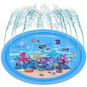 Bestrip Kids' Inflatable Sprinkler Splash Pool for $6