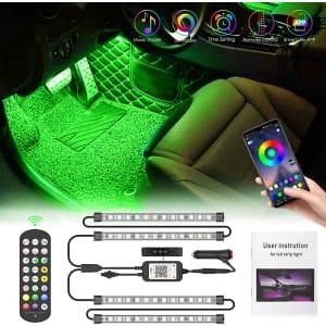 Pulilang Interior Car LED Strip Light for $8