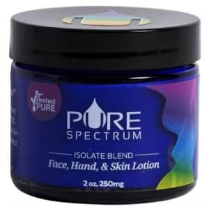 Pure Spectrum 250mg Isolate Blend CBD Lotion for $21