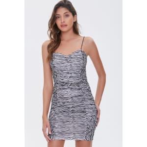 Forever 21 Women's Zebra Print Bodycon Dress for $8