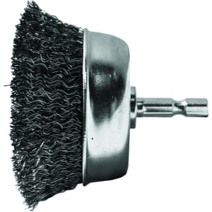 """Century Drill and Tool 2.75"""" Coarse Drill Cup Wire Brush for $9"""