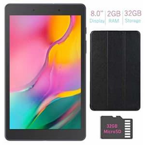 Samsung Galaxy Tab A 8.0-inch Touchscreen (1280x800) Wi-Fi Tablet (Black) Bundle, Qualcomm for $174