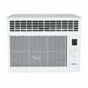 Haier 6,000 BTU Electronic Window Air Conditioner for Small Rooms up to 250 sq ft, 6000 115V, White for $246
