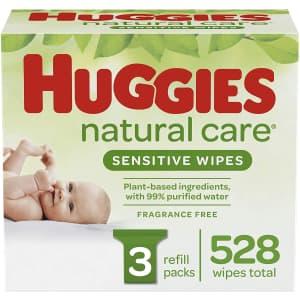 528 Huggies Natural Care Sensitive Wipes for $10 via Sub & Save