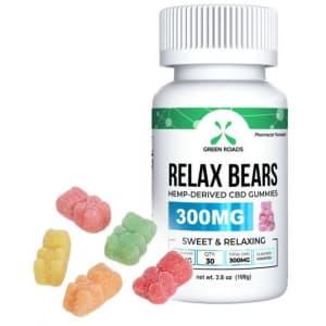 Green Roads 300mg CBD Relax Bears Gummies for $25