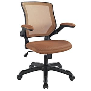 Modway Veer Office Chair with Mesh Back and Vinyl Seat With Flip-Up Arms in Tan for $167