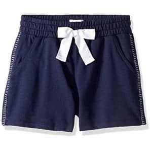Ella Moss Girls' Big Blanket Stitch Short, Navy, 14 for $15