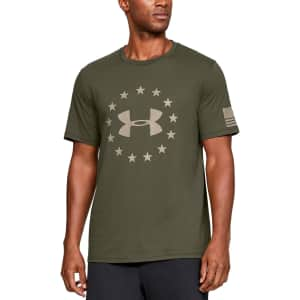 Under Armour Men's Freedom Logo T-Shirt for $15
