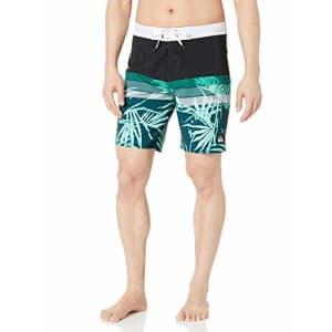 Quiksilver Men's Highline Jungle Vision 19 Boardshort Swim Trunk, Black, 40 for $50