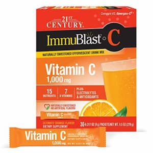 21st Century Immublast C Effervescent Drink Mix Packets, Ultimate Orange, 30 Count (27843) for $12
