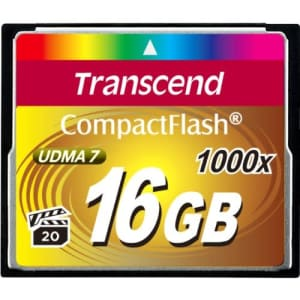 Transcend 16GB Compact flash card 1000x for $49