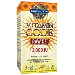 Garden of Life Vitamin D, Vitamin Code Raw D3, Vitamin D 2,000 IU, Raw Whole Food Vitamin D for $28