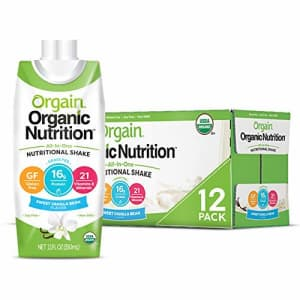 Orgain Organic Nutritional Shake, Sweet Vanilla Bean - Meal Replacement, 16g Protein, 21 Vitamins & for $40