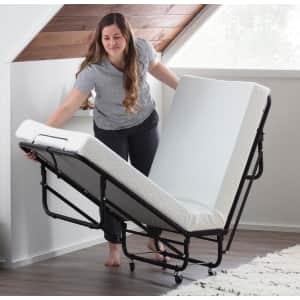 "Brookside Twin-Size Folding Rollaway Bed w/ 4"" Mattress for $187"