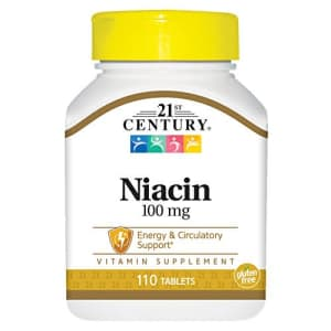 21st Century Niacin Tablets, 100 mg, 110 Count for $10