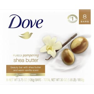 Dove Purely Pampering 3.75-oz Beauty Bar 8-Pack for $6.73 via Sub & Save