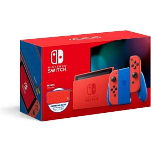 Nintendo Switch V2 Mario Red & Blue Edition 32GB Console for $398