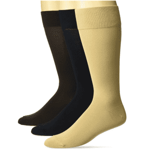 Amazon Buttoned Down Men's Pima Cotton Dress Socks 3-Pack for $18