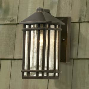"Kathy Ireland Home J du J Sierra Craftsman 10"" Outdoor Wall Light for $50"