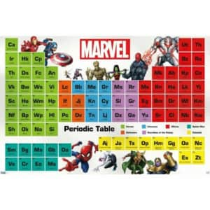 """Marvel 22"""" x 34"""" Periodic Table Poster for $6"""