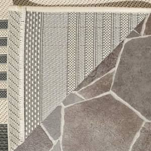 Safavieh Courtyard Collection CY6062 Stripe Indoor/ Outdoor Non-Shedding Stain Resistant Patio for $20